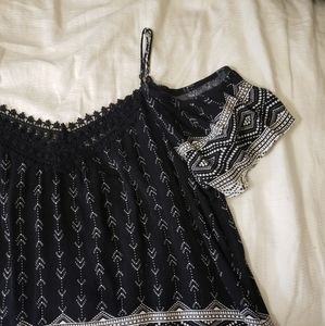 Laced Cropped Off the Shoulder Top